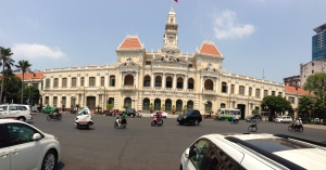 The Second Empire French designed City Hall of Saigon.