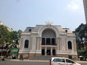 The Saigon Opera House looking perfectly Parisian.