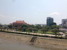 The Ho Chi Minh museum in a former steam ship terminal on the banks of the Saigon River.