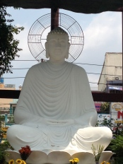 The large white Buddha that has stayed with me since I first saw it.  This is the image of Buddha I have when I meditate.