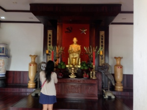 The Shrine to Ho Chi Minh is very similar to that which you would see to Buddha.