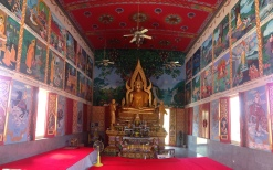Inside of the Shrine at Wat Plai Laem.