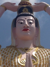 Guanyin looking down upon us.