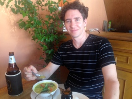 Francis enjoying his Green Curry.