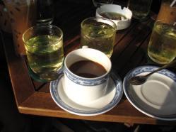 Vietnamese Coffee...Hot.