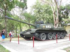 One of the two tanks on display in the front of the Palace.