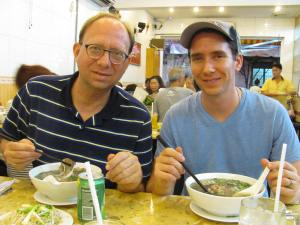 Francis and I enjoying Pho!